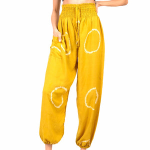 Yellow Circle Motif Bali Pants