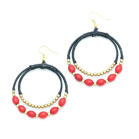 Double Hoop Earrings - Flamingo Boutique