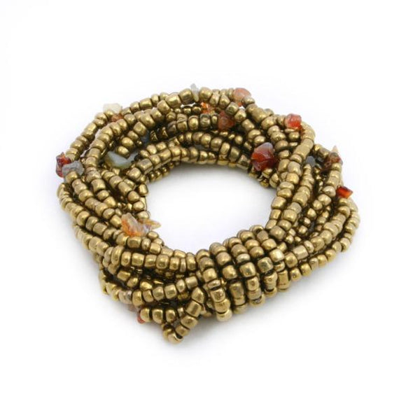 Multi-Strand Elasticated Bead Bracelet