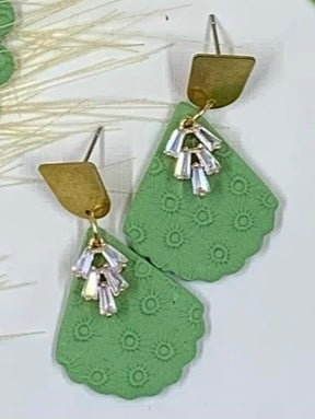 Spring Green Leaf Earrings