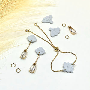 Misty Morning Rain Drop Earrings