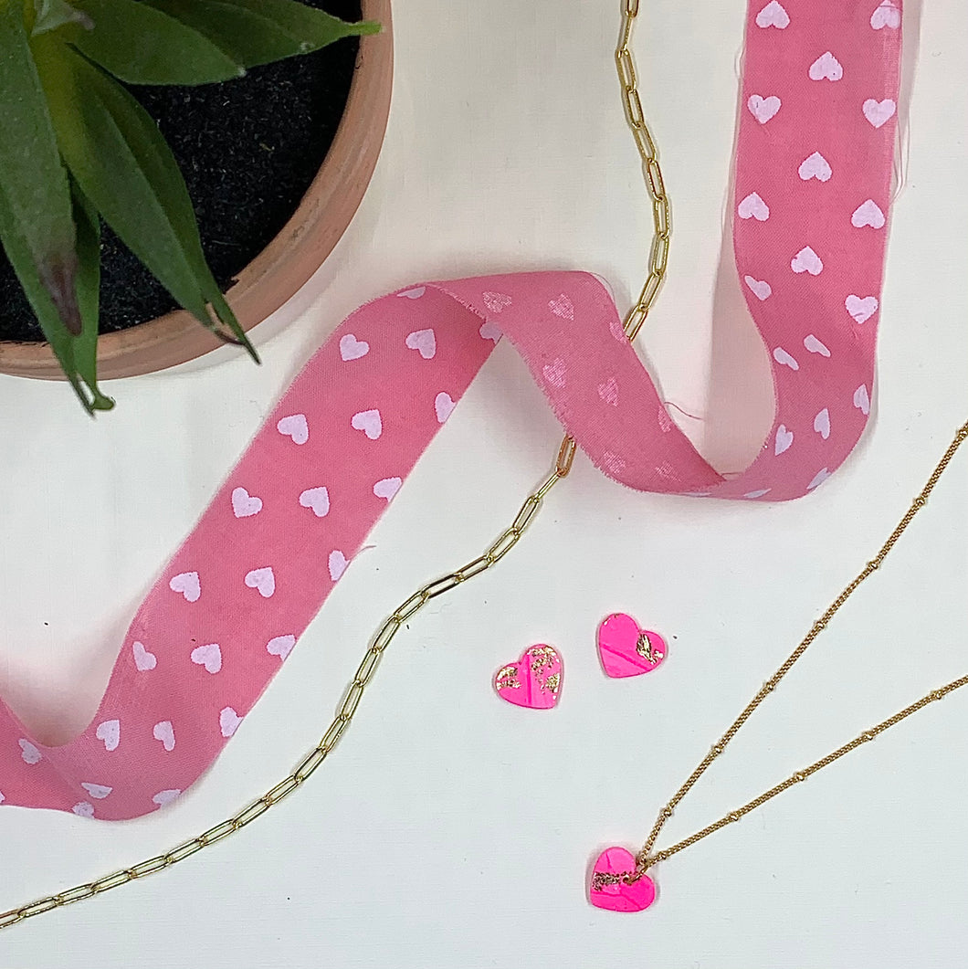 Sweetheart Studs + Necklace Set