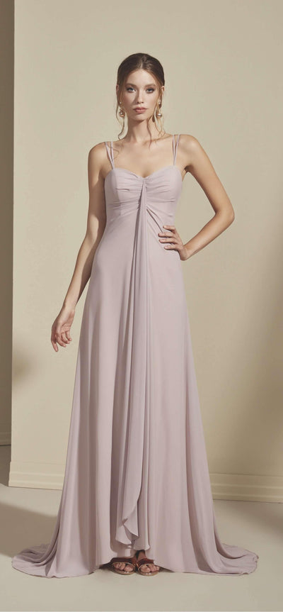 Chiffon Empire Sweetheart Bridesmaid Dress - Jana Ann Couture