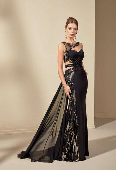 Crepe Sweetheart Prom Dress with Asymmetric Strap