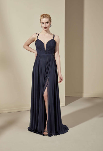 Lycra Tulle Sweetheart Bridesmaid Dress with Plunging - Jana Ann Bridal