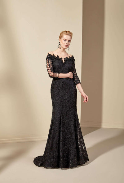 Off Shoulder Lace Mermaid Mother of the Bride Dress - Jana Ann Couture