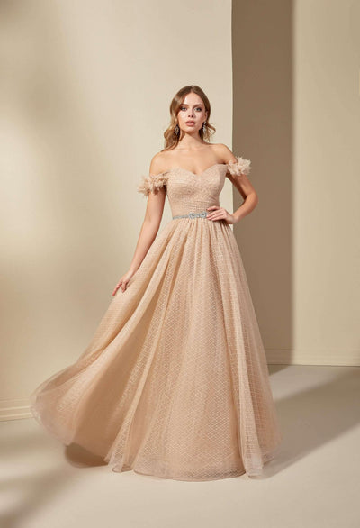 Off the Shoulder Sweetheart Formal Dress