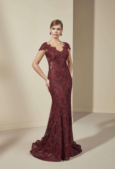 See Through Mother of the Bride Dress with Illusion Neckline