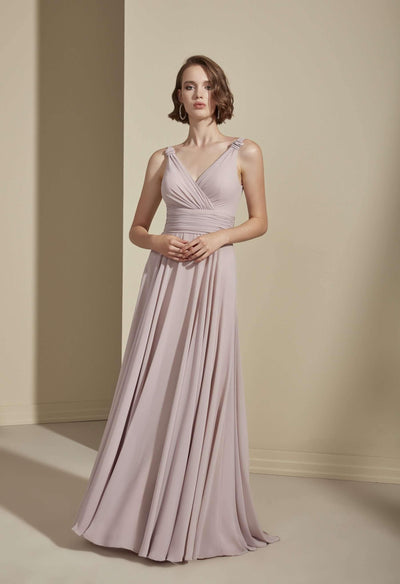 Sleeveless Chiffon A-Line Bridesmaid Dress - Jana Ann Couture