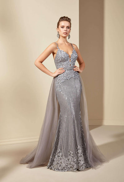 Sweetheart Mermaid Evening Dress with Overlay Skirt