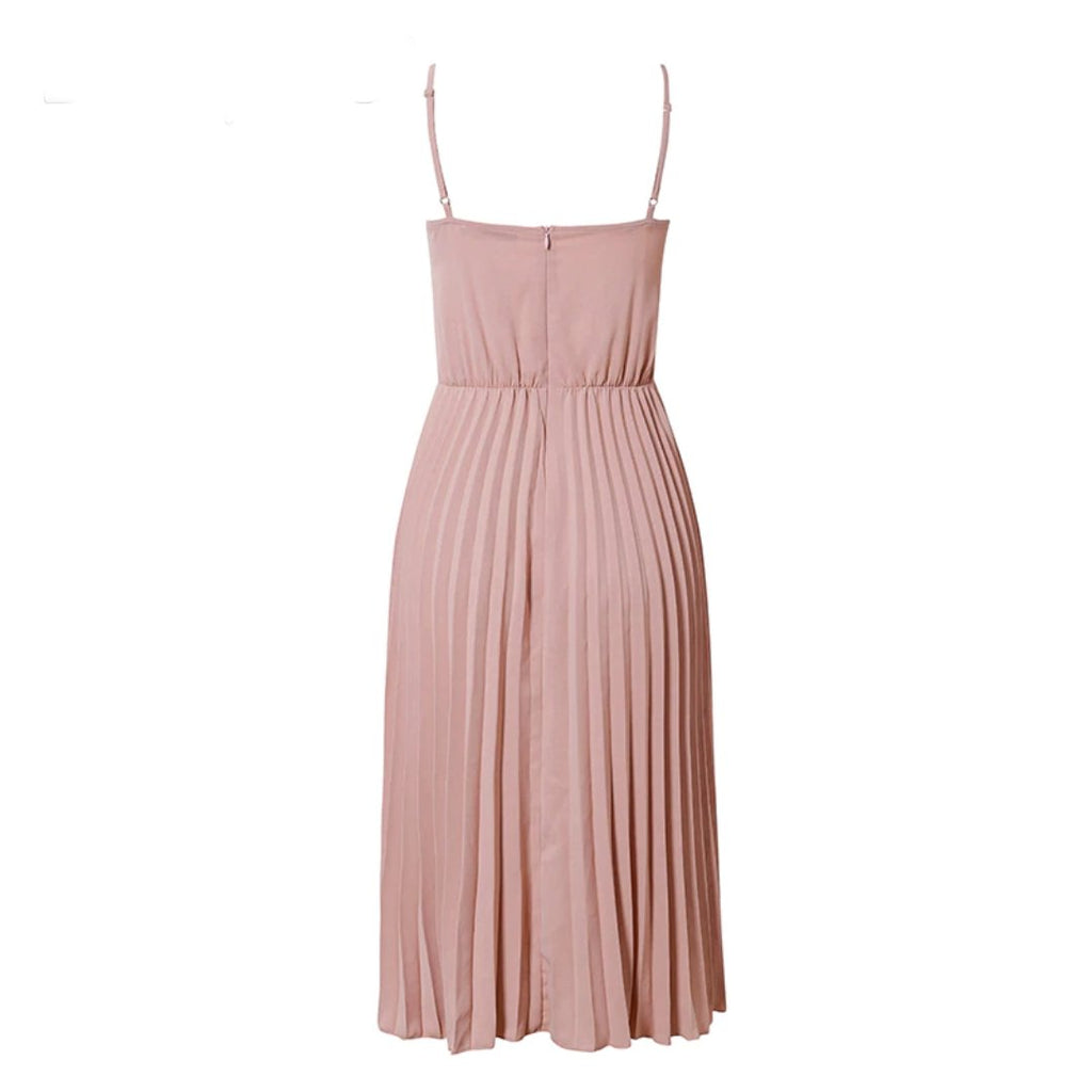 Casual Dress Midi Pink - Far East Hype