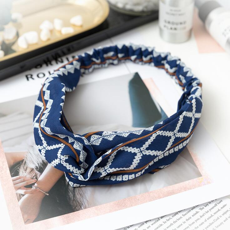 Summer Breeze Headband Aztec Blue - Far East Hype