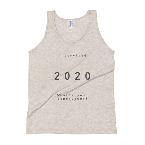 Image of Surviving 2020 Tank top (Tri-blend Oatmeal / Grey) - Far East Hype