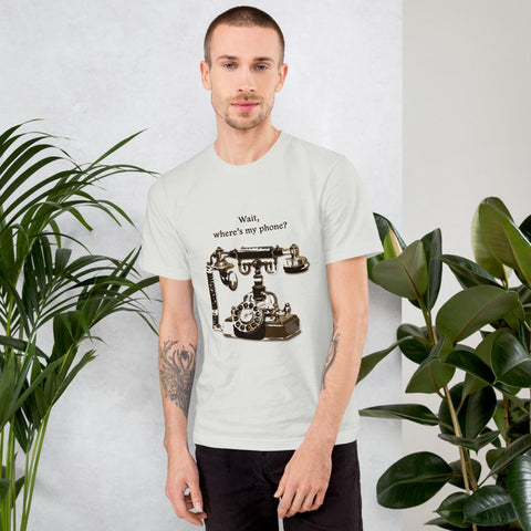 Image of Vintage telephone Chest print T-shirt - Far East Hype