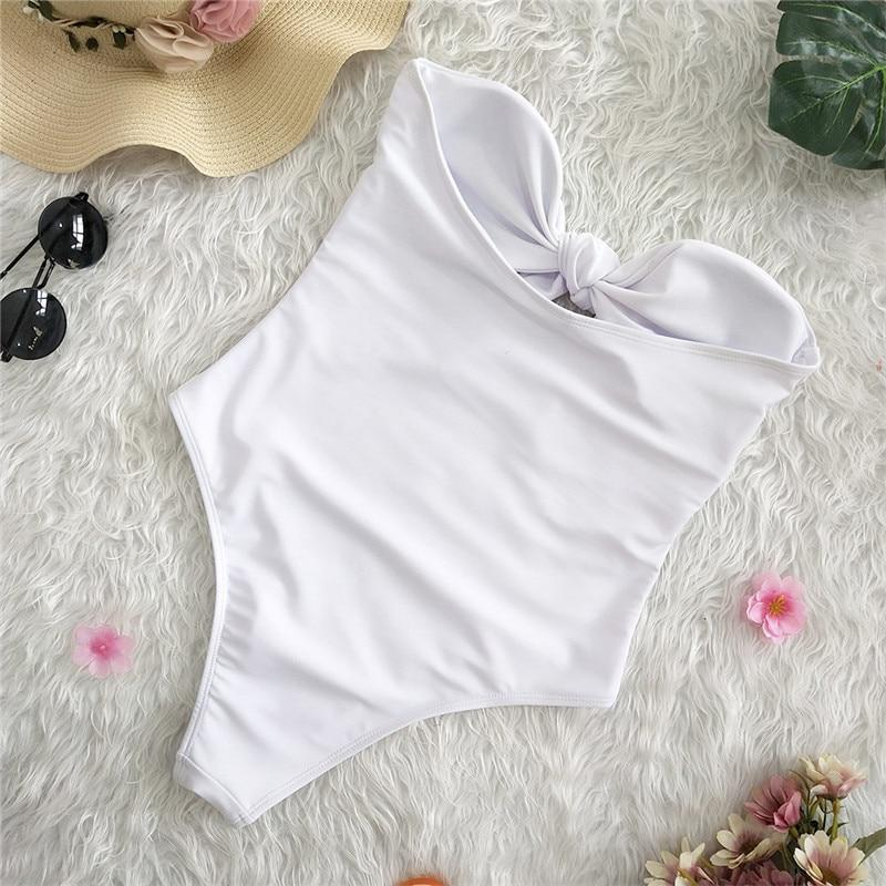 Bandeau Swimsuit White - Far East Hype