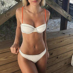 Stitches Bikini White - Far East Hype