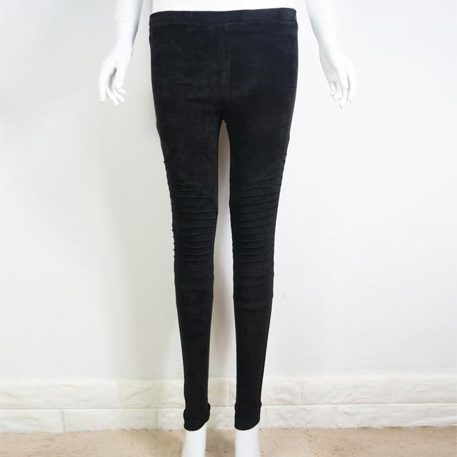 Bella Philosophy Faux Suede Leggings - Far East Hype