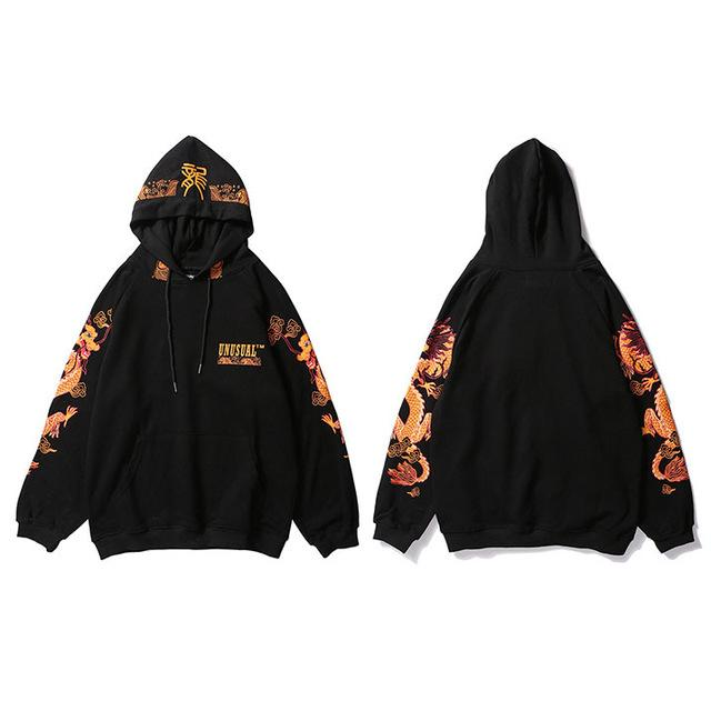 Gold Dragon Hoodie - Far East Hype