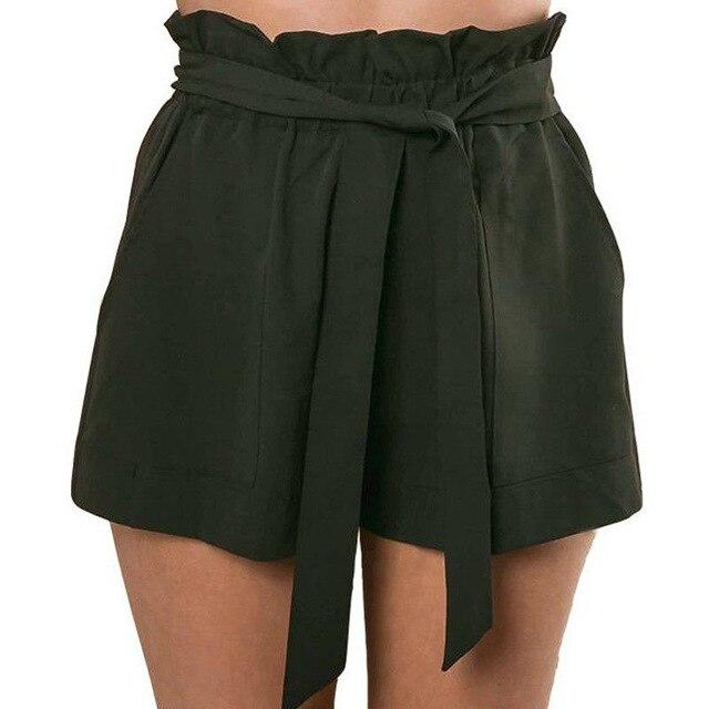 Ruffle Shorts Army Green - Far East Hype