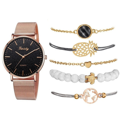 Lux Geneva Watch and Jewelry Set