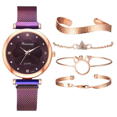 Image of Rinnandy Watch and Jewelry Set Petit 5 Pcs
