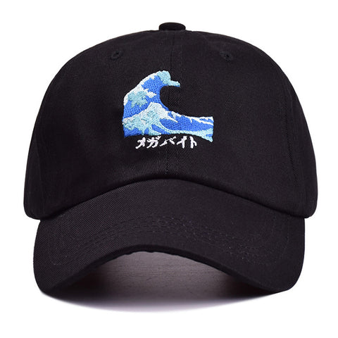 The Great Wave Strapback Cap