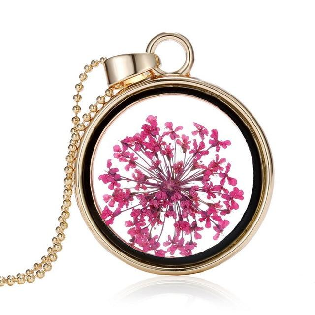 Flower Pendant Necklace - Far East Hype