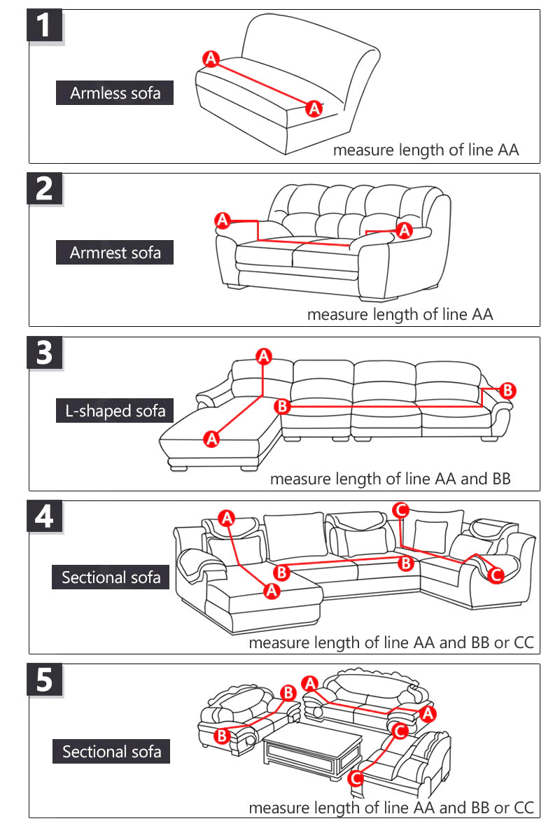Measure Guide for Sofa