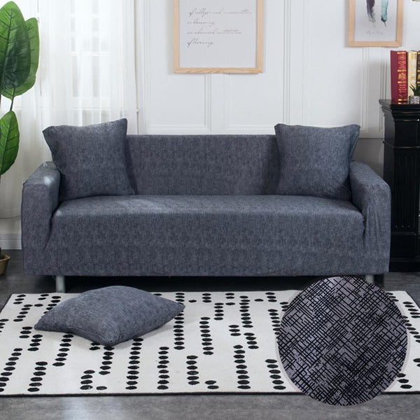 Universal Elastic Couch cover-BRIDIE MINI DARK GRAY