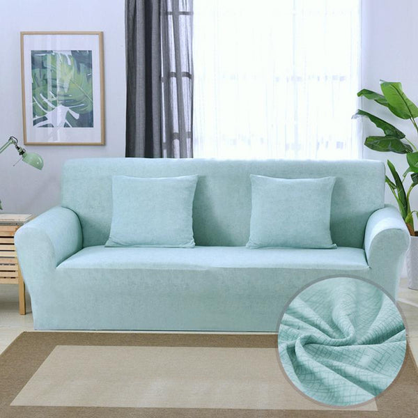 Universal Elastic Couch cover-BRIDIE MINI Light blue