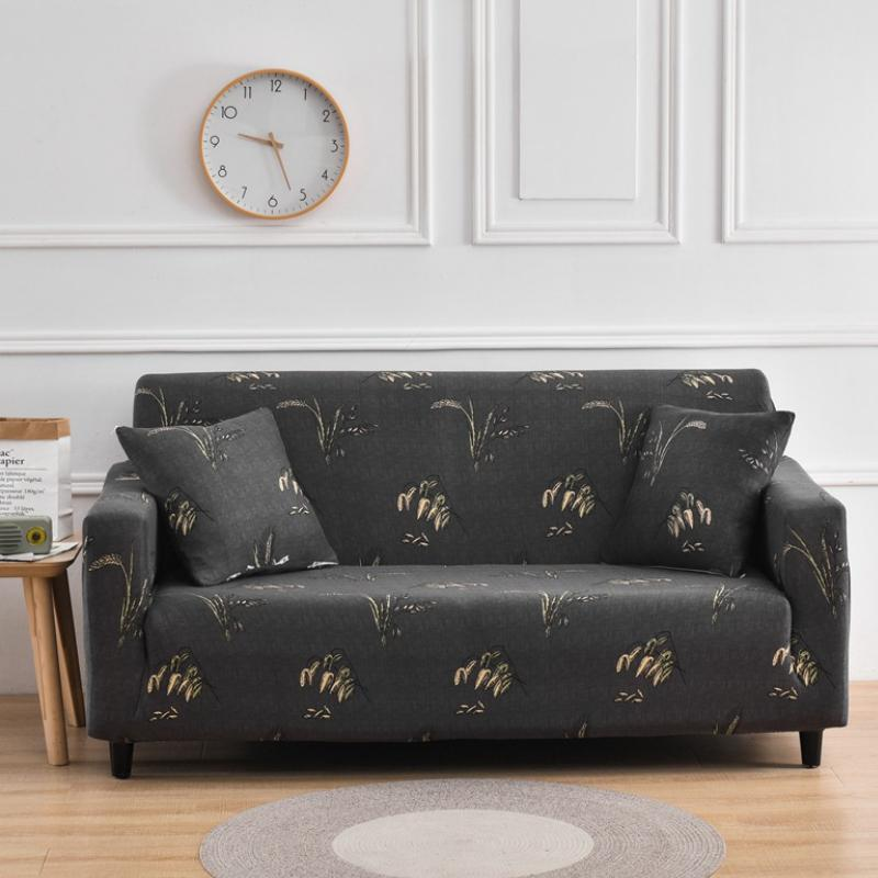 Elastic printing Couch cover- Wheat
