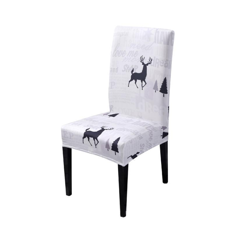 Christmas universal chair cover-Alphabet fawn