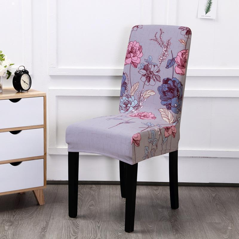 Multi-color Spandex Chair Cover-Secret Garden