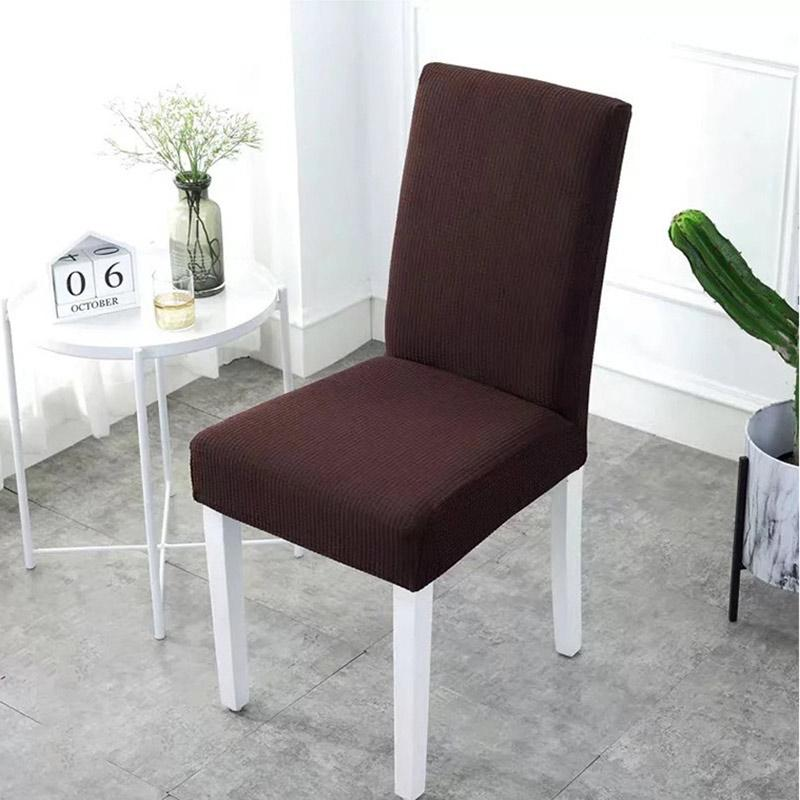 Waterproof Rhombus Grain Chair Cover-Dark Brown
