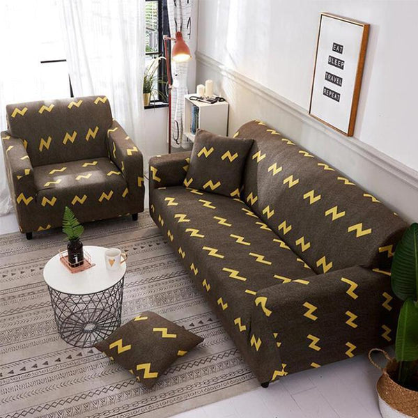 Elastic printing Couch cover-Gentleman