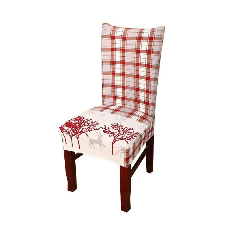Christmas universal chair cover-Red Moose