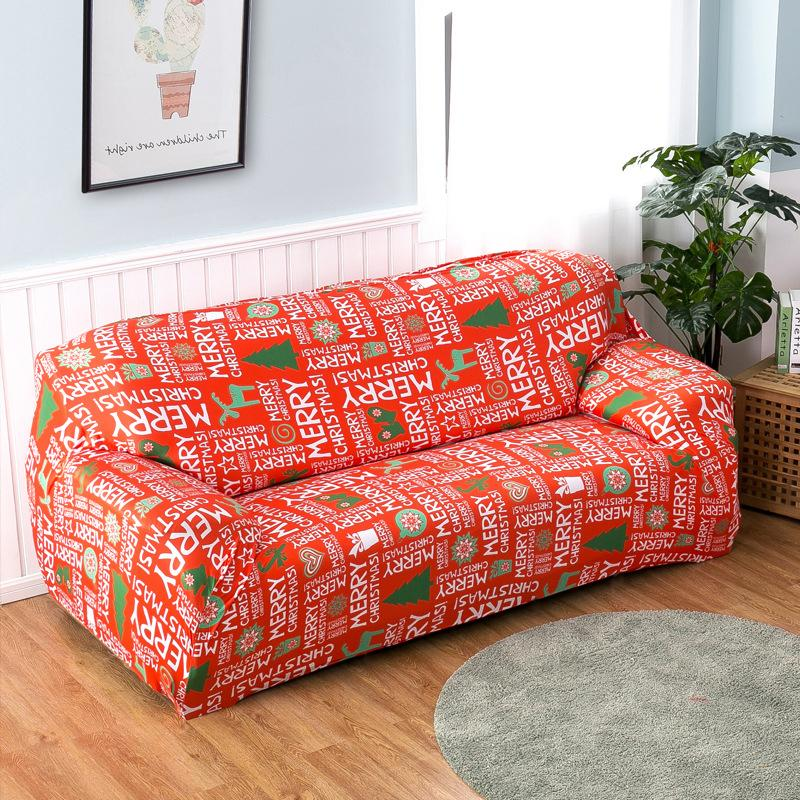 Universal Elastic printing Couch cover-Christmas Greetings