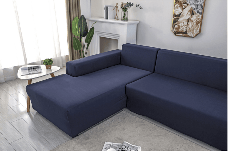 Elastic Original Couch cover-navy blue