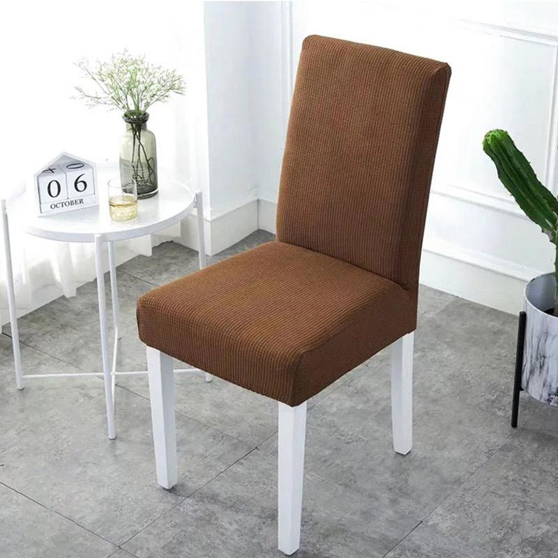 Waterproof Rhombus Grain Chair Cover-Light Brown