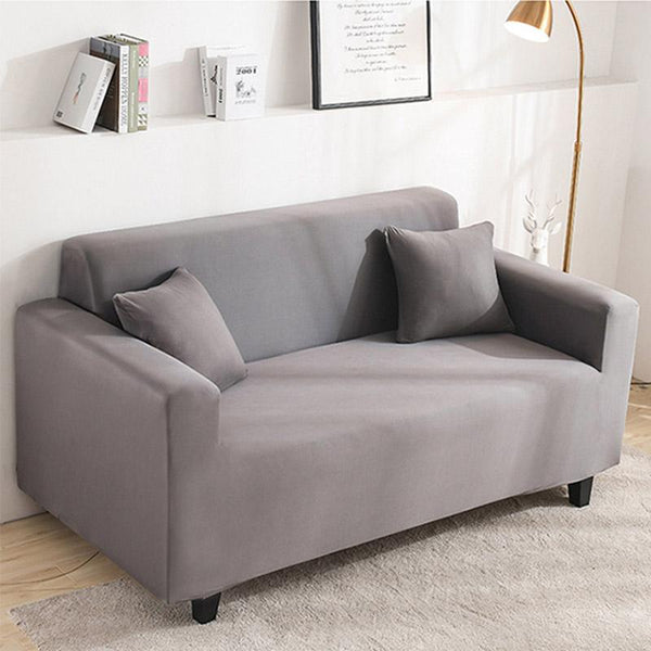 Elastic Stretchable Simple Couch cover-Gray