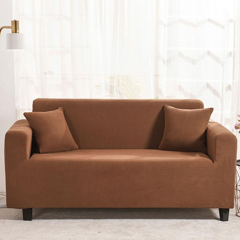 Waterproof Universal Elastic Couch cover-Brownish yellow