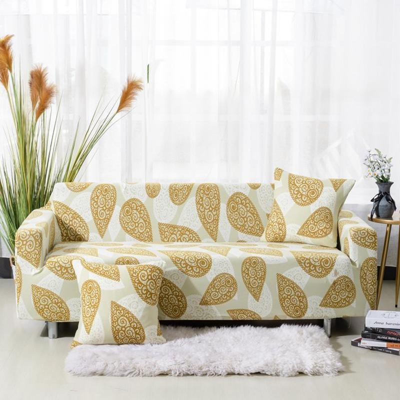 Universal Elastic printing Couch cover-GOLDEN DROP
