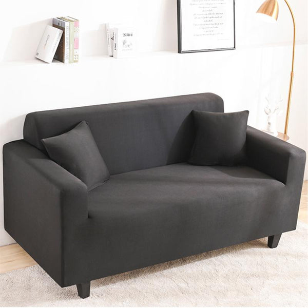 Elastic Stretchable Simple Couch cover-Black