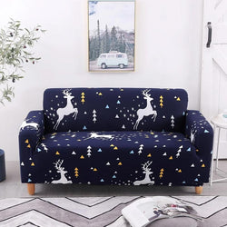 Elastic printing Couch cover-FRANKLIN WEST DEER