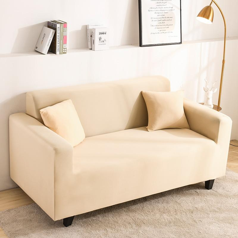 Elastic Stretchable Simple Couch cover-Beige