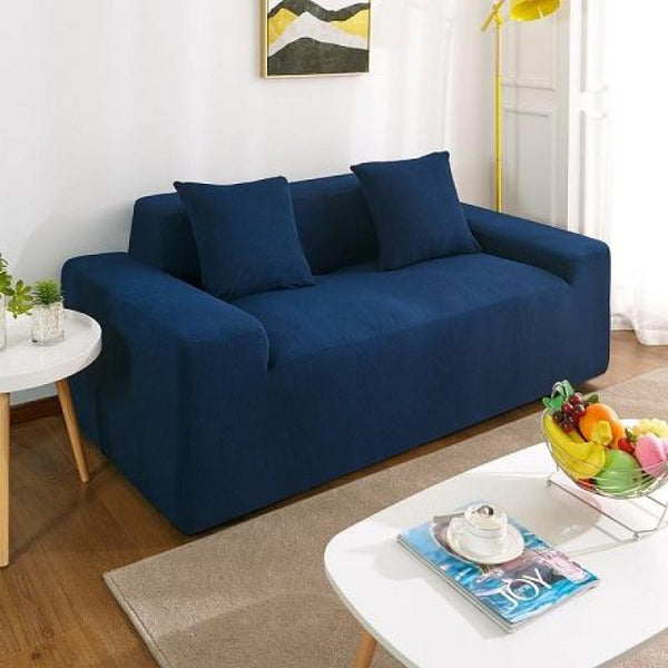 Waterproof Universal Elastic Couch cover-Navy blue