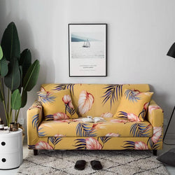 Elastic printing Couch cover-ALINA STANLEY