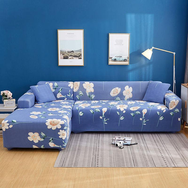 Elastic universal printing Couch cover-Flower