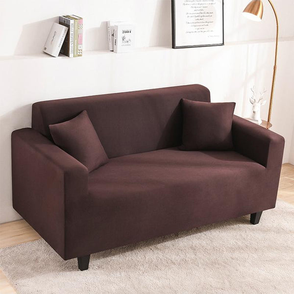 Elastic Stretchable Simple Couch cover-Coffee
