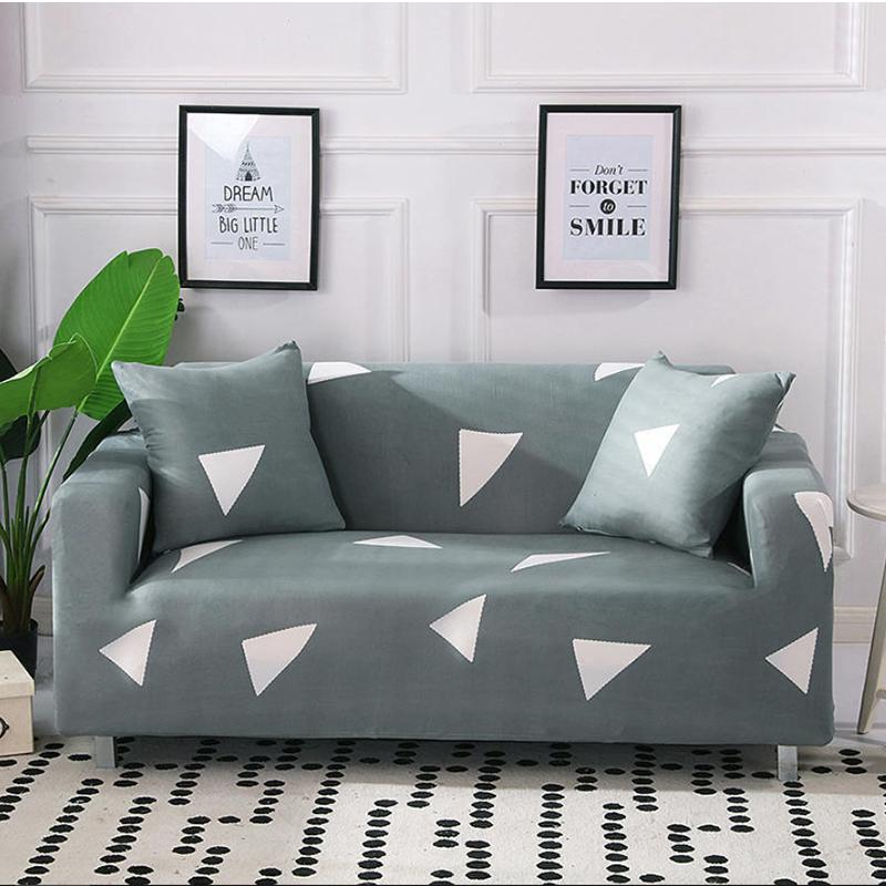Elastic printing Couch cover-TRIANGLE GRAY